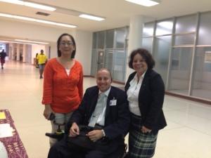 Junto al Procurador de las Personas con Impedimentos, Iván Díaz Carrasquillo